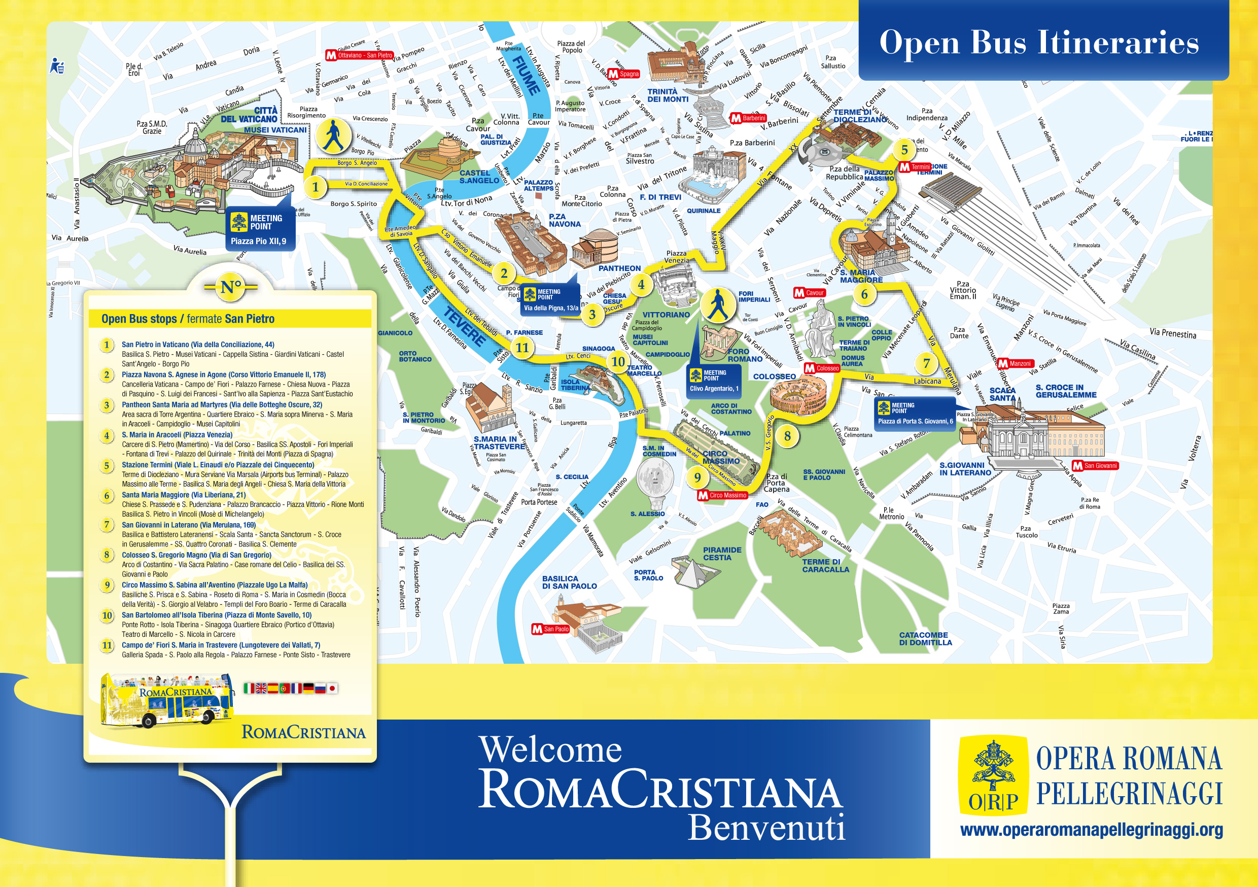 Rome City Tour Pass Terravision – Map Of Rome Showing Tourist Attractions