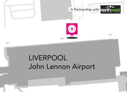 Bus Liverpool – fermata all'Aeroporto di Liverpool