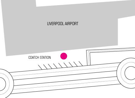 Terravision Bus Liverpool- Parada Aeropuerto de Liverpool