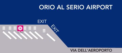 Terravision bus Bérgamo – parada en el Aeropuerto de Bérgamo