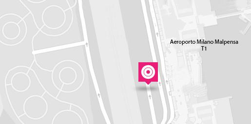 Terravision Bus Malpensa - Haltestelle am Flughafen in Mailand-Malpensa (T1)